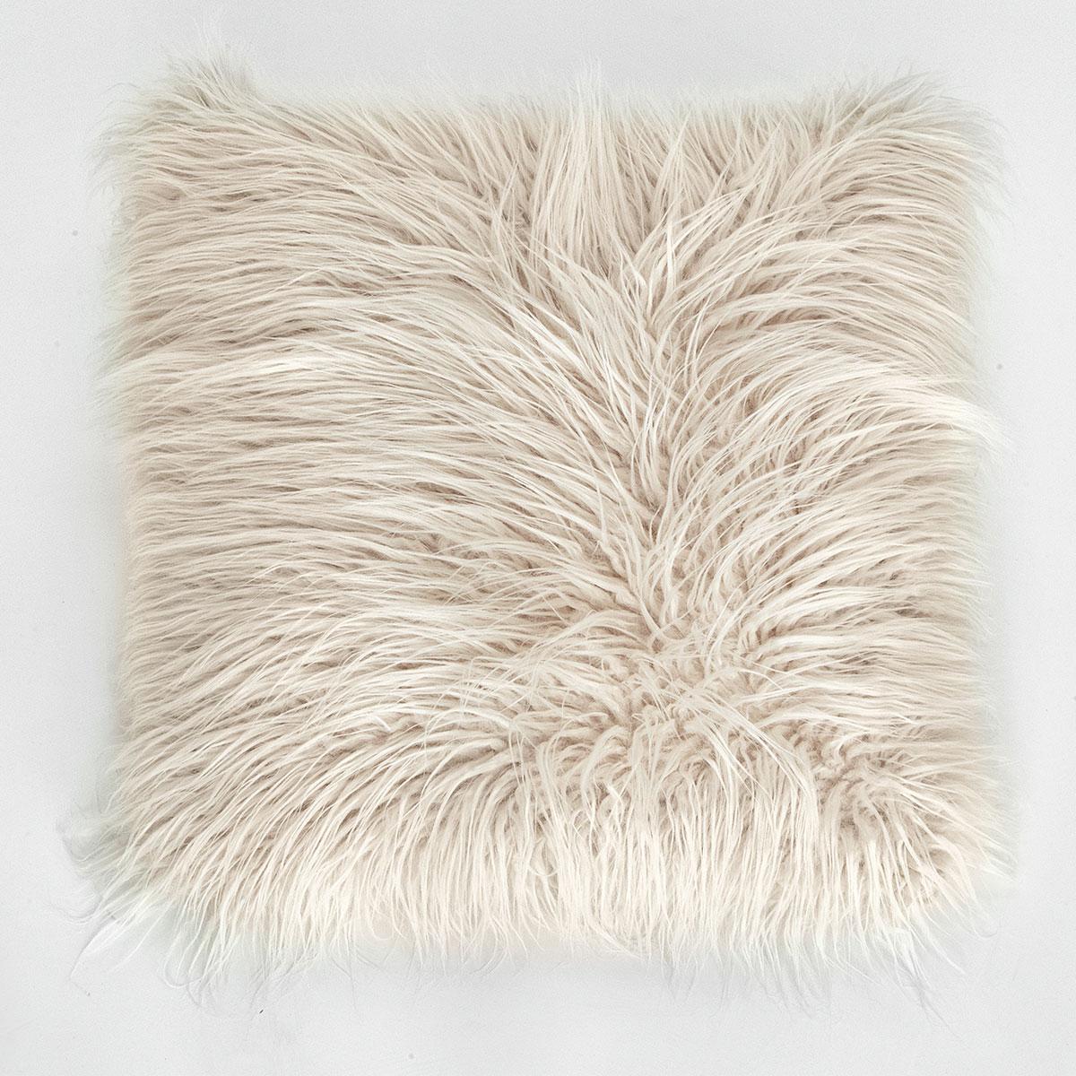 Купить Декоративные подушки Arya, Декоративная наволочка Vivense Цвет: Бежевый (45х45), Турция, Искусственный мех