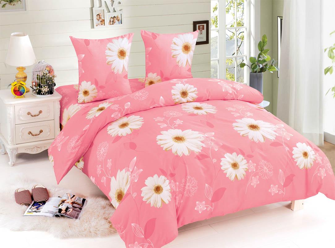 Купить Комплекты постельного белья Amore Mio, Постельное белье Brianna (2 сп. евро), Китай, Белый, Розовый, Поплин