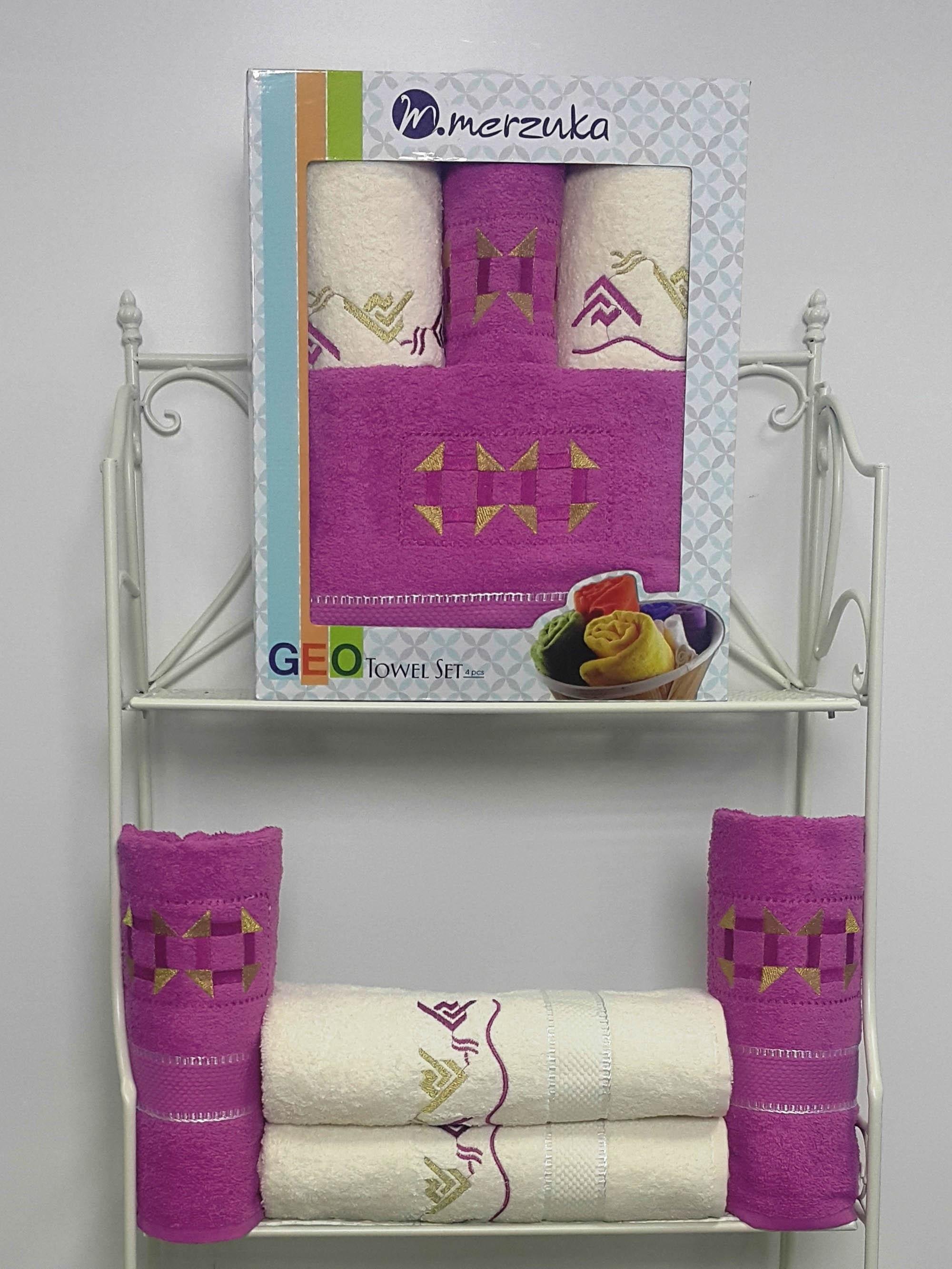 Полотенца Oran Merzuka Полотенце Geo Цвет: Светло-Лиловый (Набор) полотенца oran merzuka полотенце sakura цвет светло лиловый набор