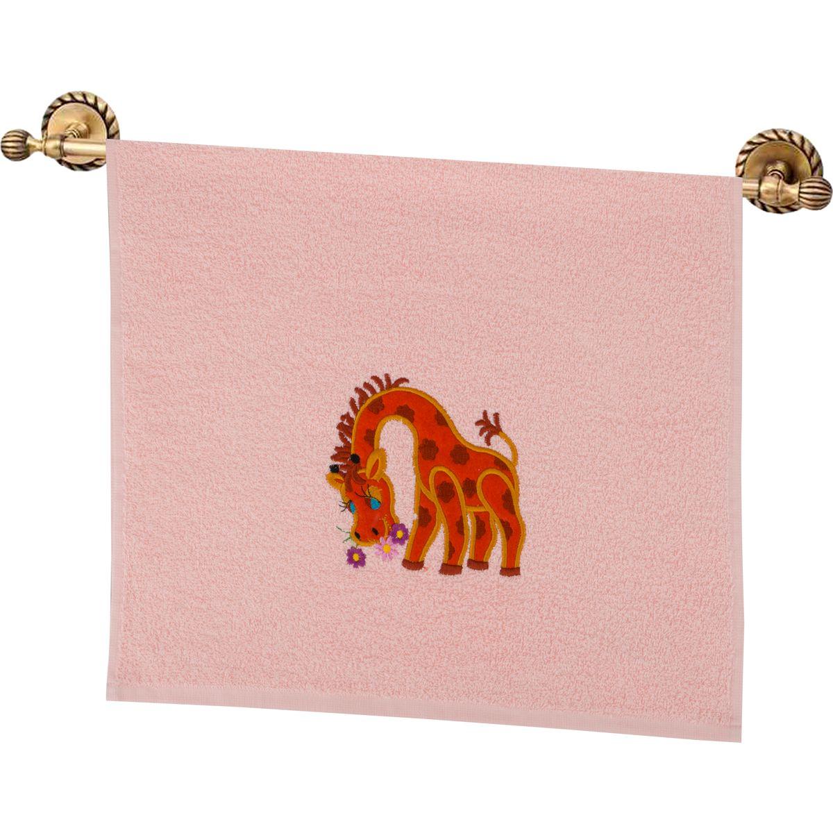 Купить Полотенца Santalino, Полотенце Жираф Цвет: Персиковый (40х70 см), Россия, Махра