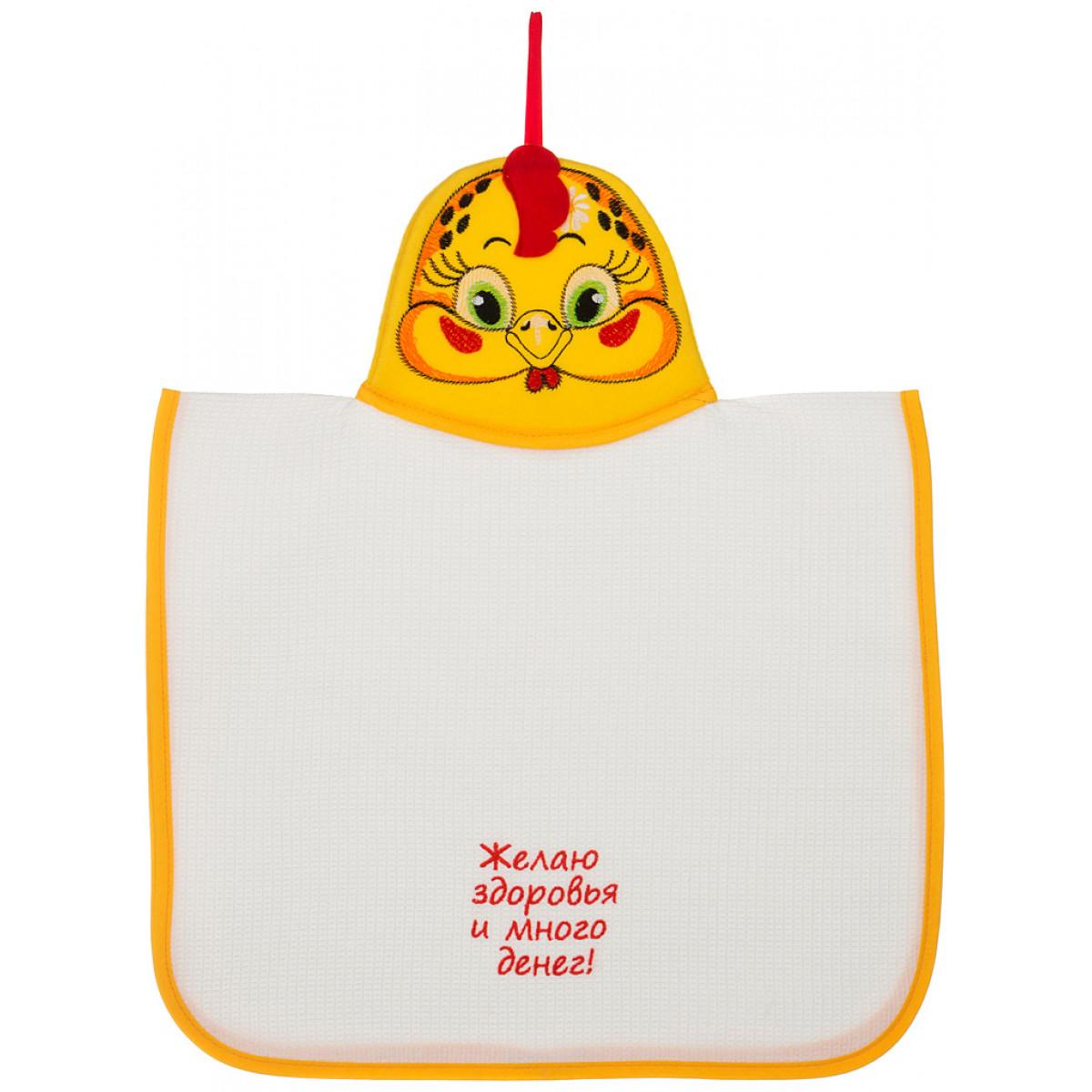 Купить Полотенца Santalino, Кухонное полотенце Fiona (40х70 см), Россия, Белый, Желтый, Вафля