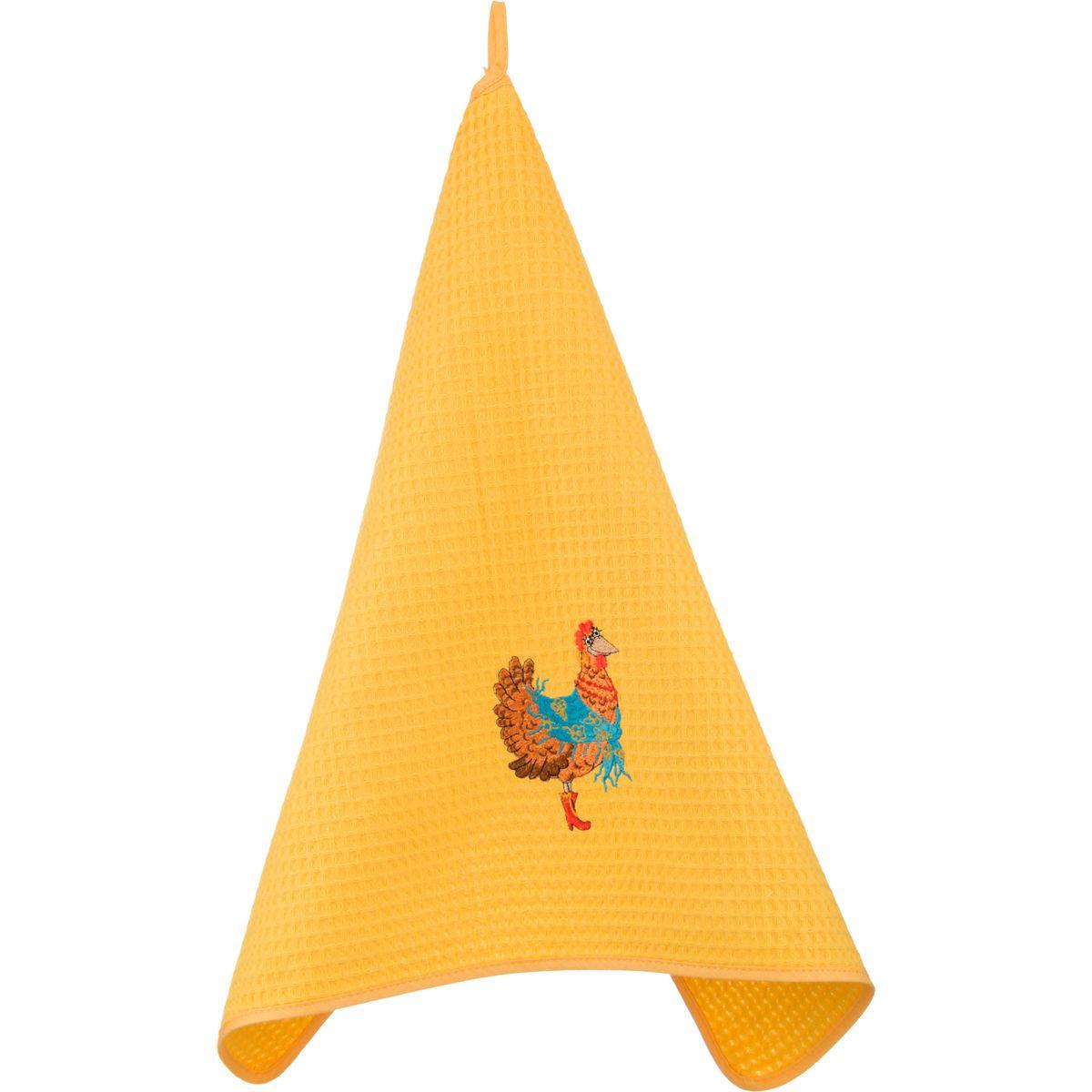 Купить Полотенца Santalino, Кухонное полотенце Курочка Цвет: Жёлтый (50х70 см), Россия, Желтый, Вафля