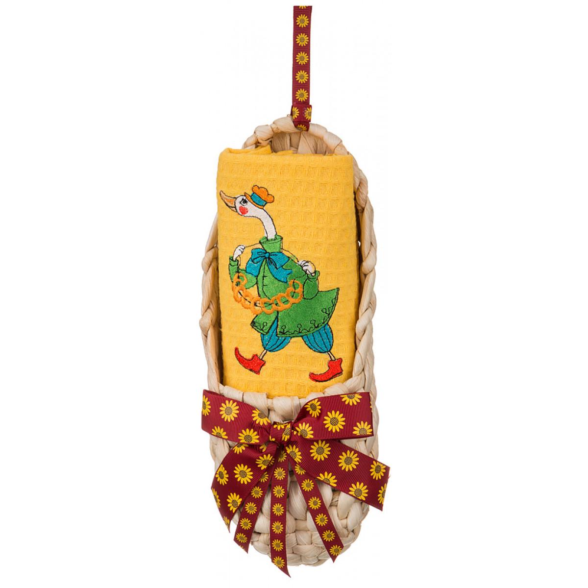 Купить Полотенца Santalino, Кухонный набор Dervla, Россия, Желтый, Вафля
