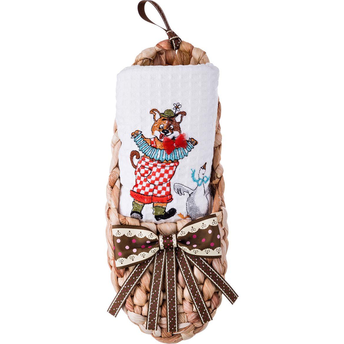 Купить Полотенца Santalino, Кухонное полотенце Пляска Цвет: Белый (круглая 70 см), Россия, Вафля