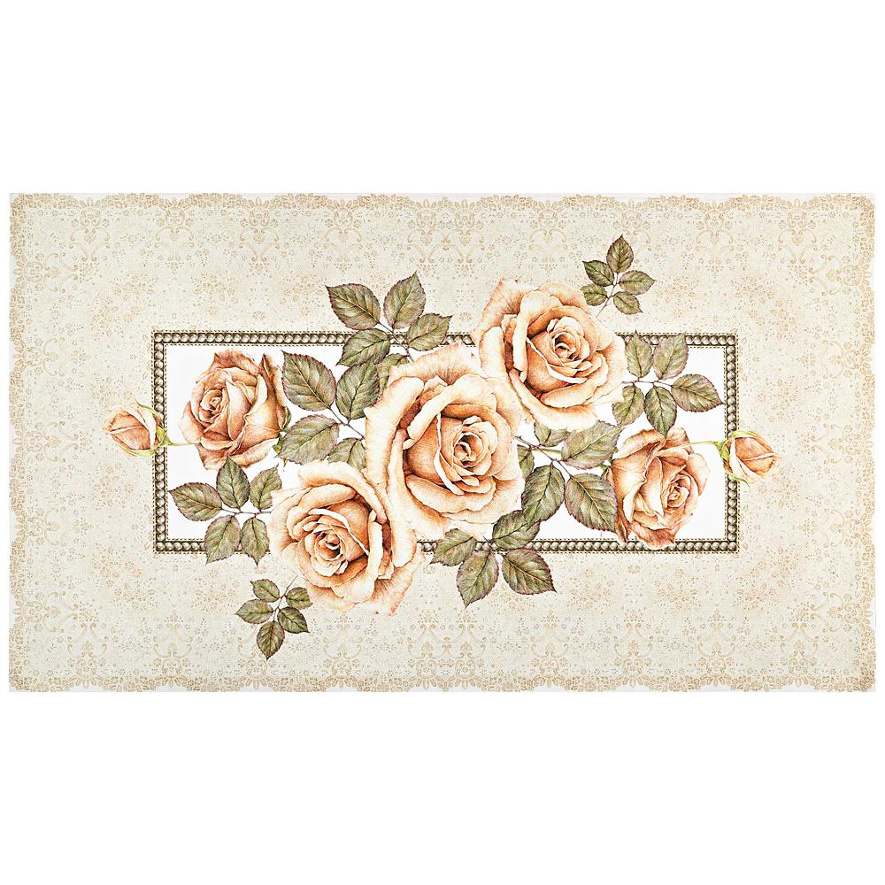Купить Полотенца Santalino, Кухонное полотенце Корейская Роза Цвет: Кремовый (40х70 см), Россия, Твил
