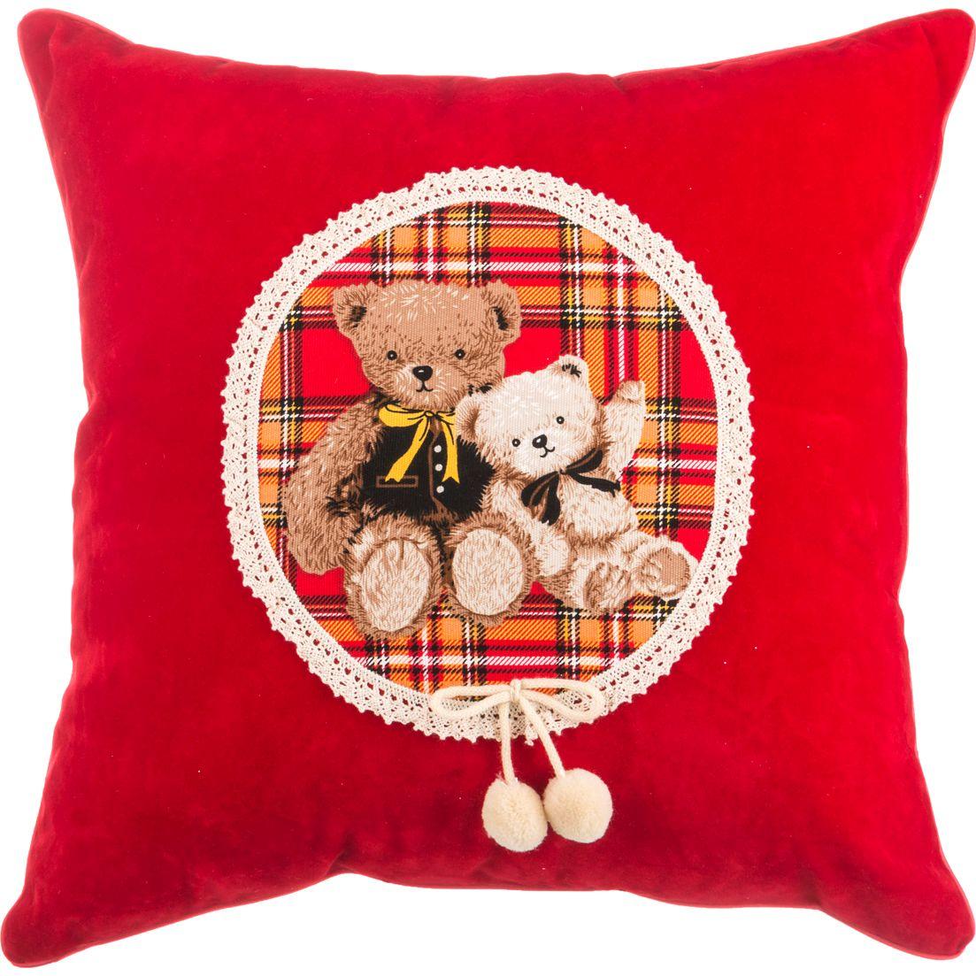 Купить Декоративные подушки Santalino, Декоративная подушка Мишка (43х43), Россия, Поликоттон