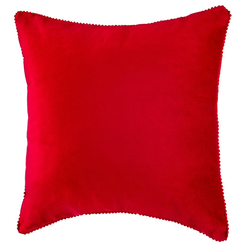 Купить Декоративные подушки Santalino, Декоративная подушка Фьюжен Цвет: Красный (45х45), Россия, Синтетический велюр