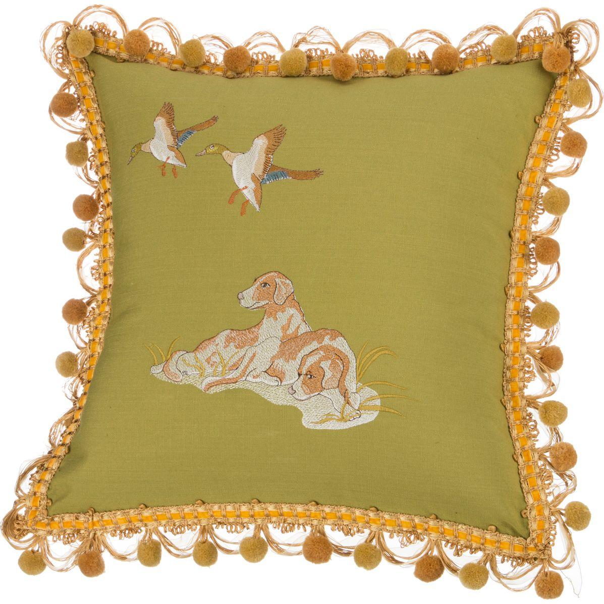 Декоративные подушки Santalino Декоративная подушка Охота Цвет: Зелёный (45х45) декоративные подушки santalino декоративная подушка гуси 45х45