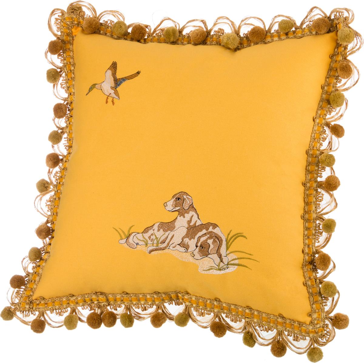 Декоративные подушки Santalino Декоративная подушка Охота Цвет: Жёлтый (45х45) декоративные подушки santalino декоративная подушка гуси 45х45