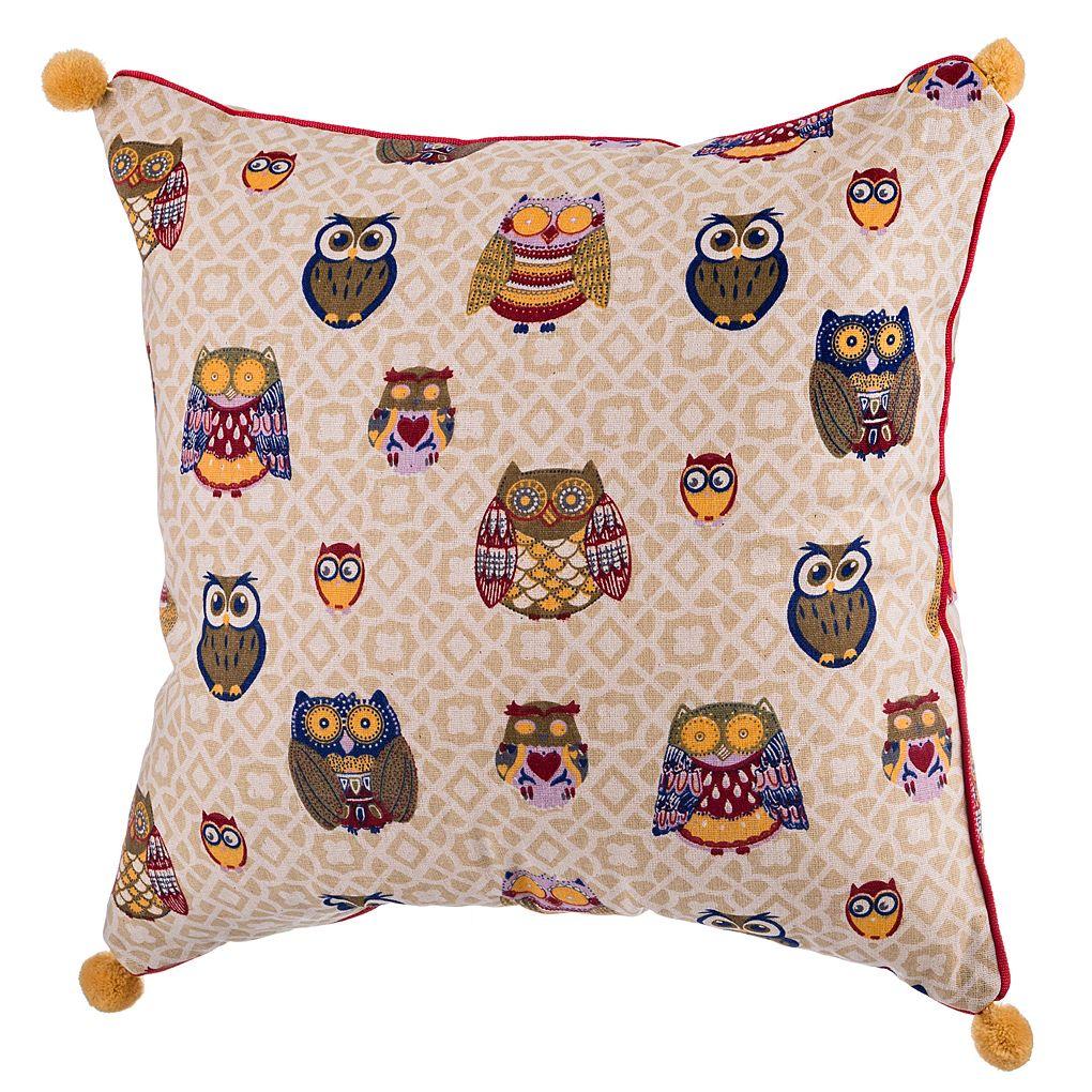 Декоративные подушки Santalino Декоративная подушка Совушки Цвет: Бежевый (40х40)