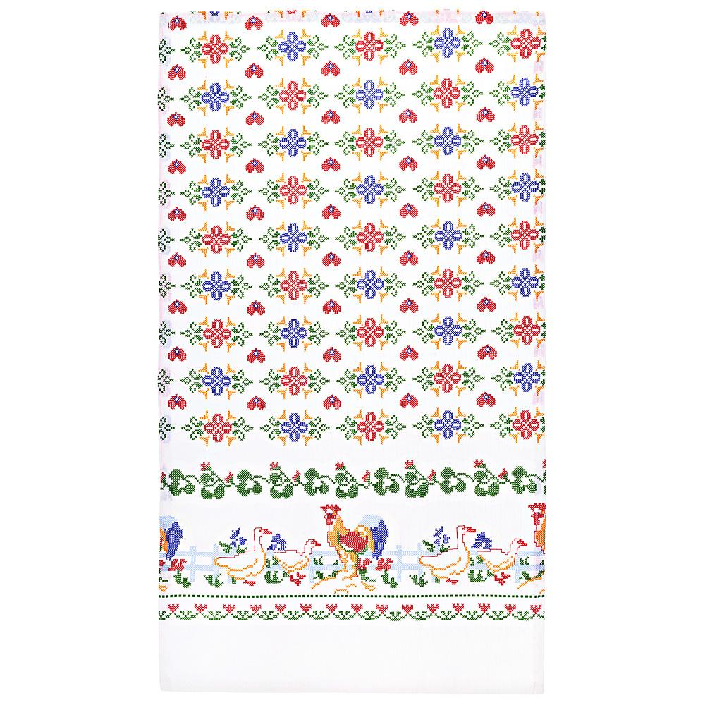 Купить Полотенца Santalino, Кухонное полотенце Народные Мотивы Цвет: Белый (40х65 см), Россия, Мультиколор, Вафля