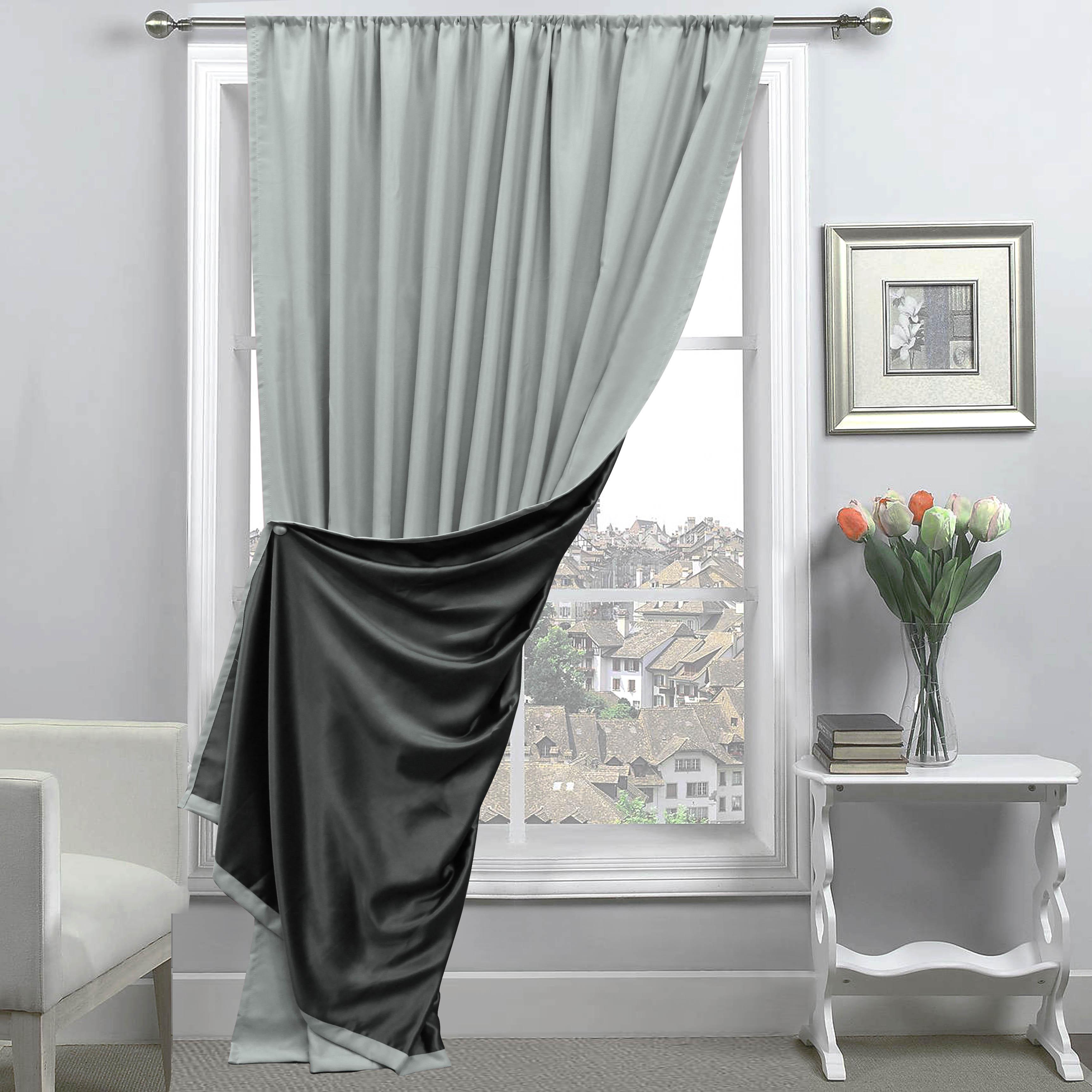 Купить Шторы Amore Mio, Классические шторы Milan Цвет: Серый/Черный, Китай, Blackout