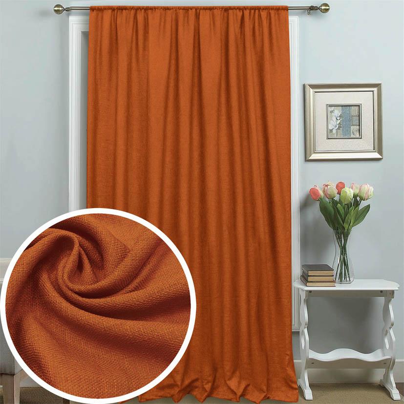 Купить Шторы Amore Mio, Классические шторы Xavior Цвет: Терракотовый, Китай, Оранжевый, Портьерная ткань