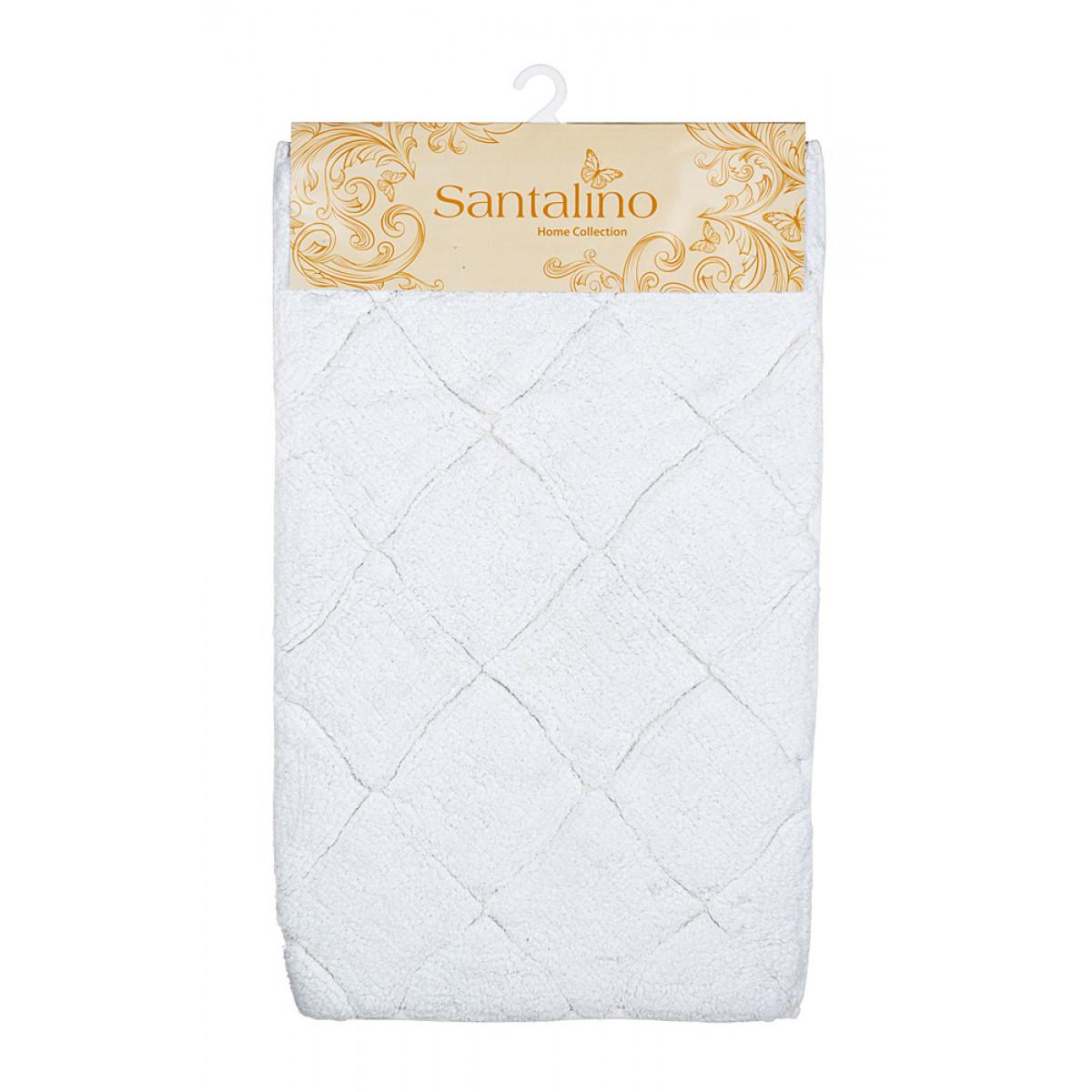 Купить Коврики для ванной и туалета Santalino, Коврик для ванной Вайт (50х80 см), Индия, Белый, Махра