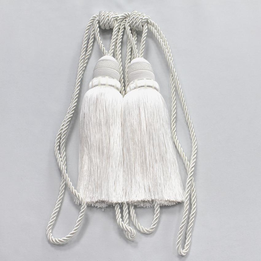 Купить Карнизы и аксессуары для штор Ajur, Аксессуар для штор Paulina Цвет: Белый, Китай, Полиэстер