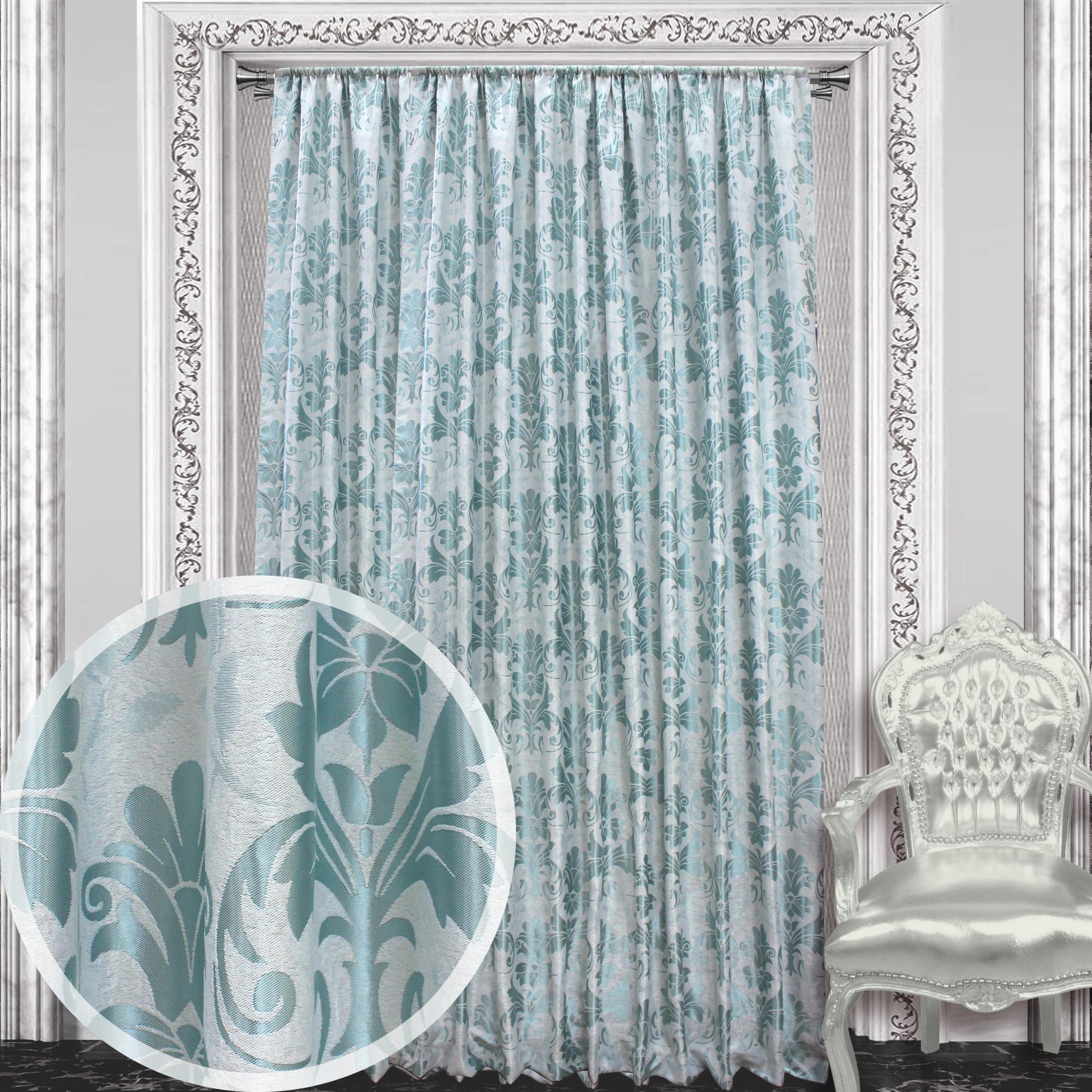 Купить Шторы Amore Mio, Классические шторы Maliyah Цвет: Ментоловый, Китай, Зеленый, Blackout
