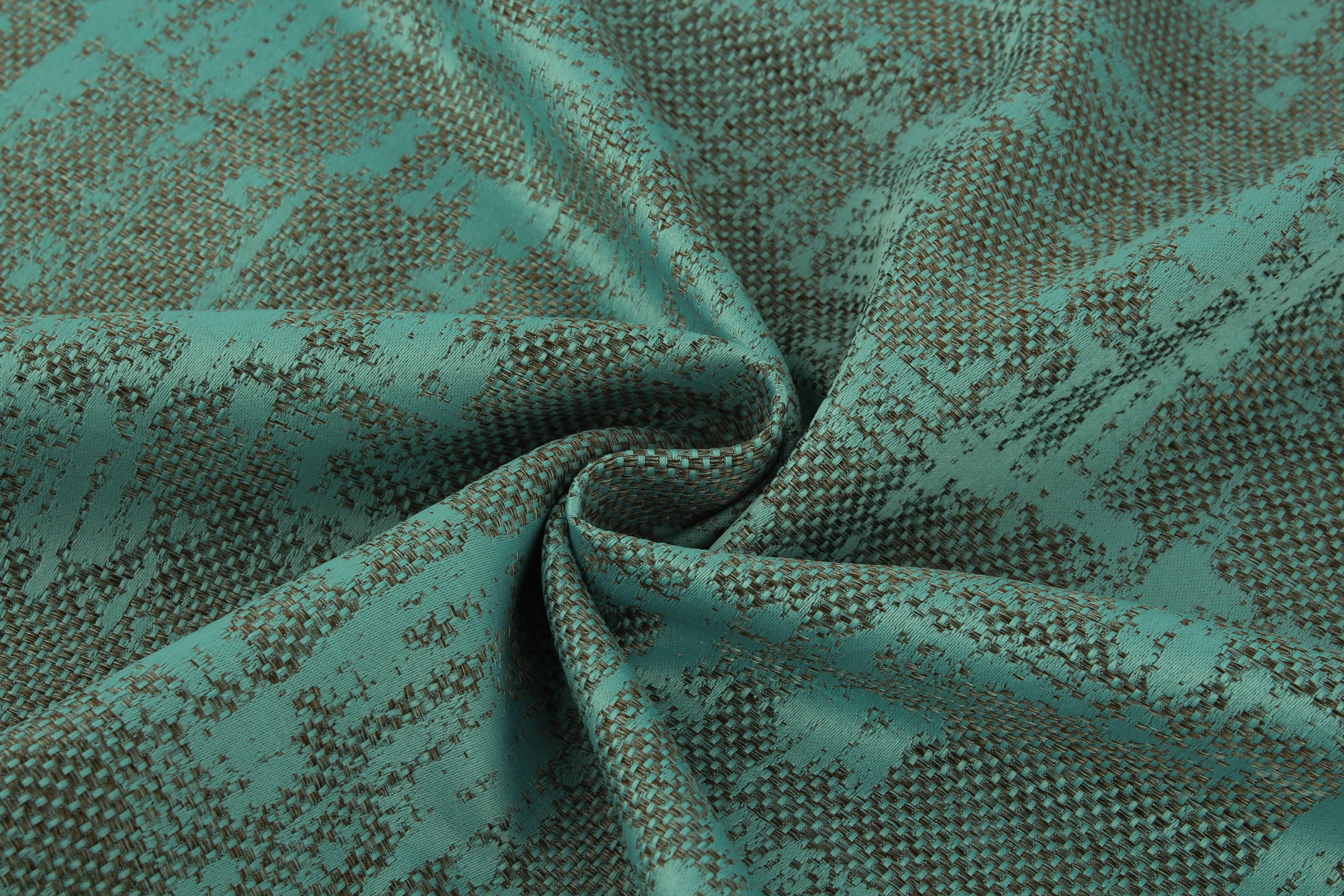Купить Ткани TexRepublic, Материал Жаккард Japanese Motive Цвет: Бирюзовый, Турция, Зеленый