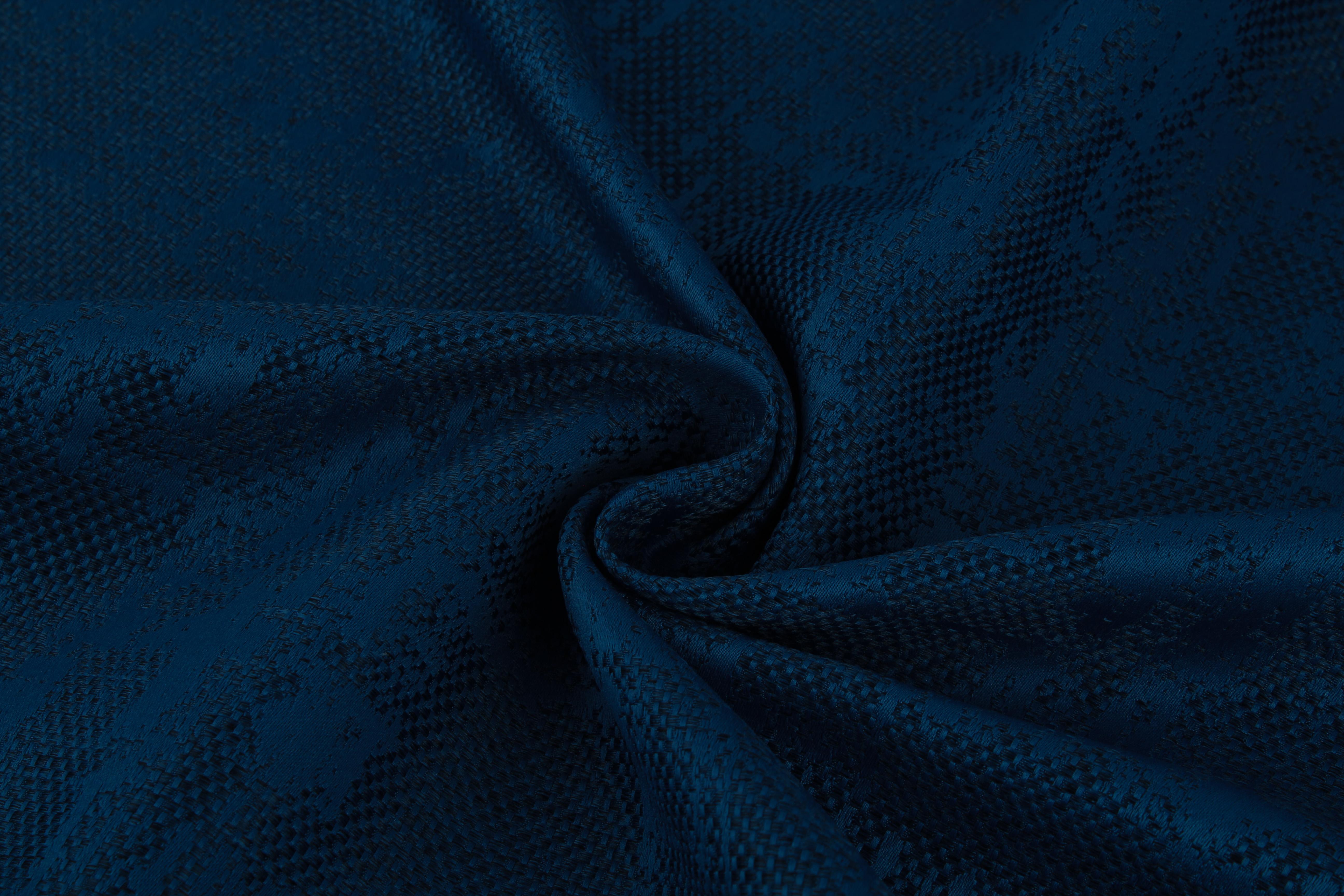 Купить Ткани TexRepublic, Материал Жаккард Japanese Motive Цвет: Синий, Турция