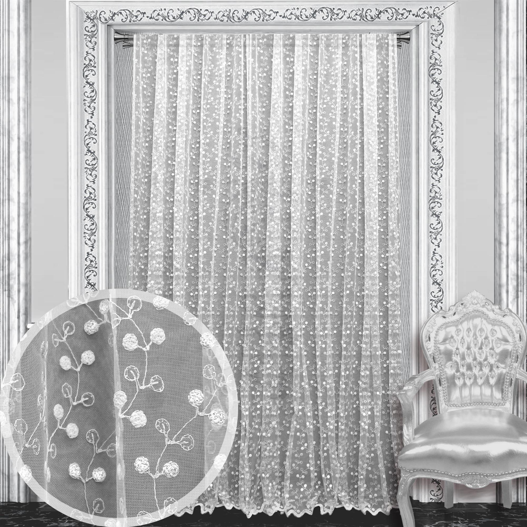 Купить Шторы Amore Mio, Классические шторы Sardinia Цвет: Белый, Китай, Тюль