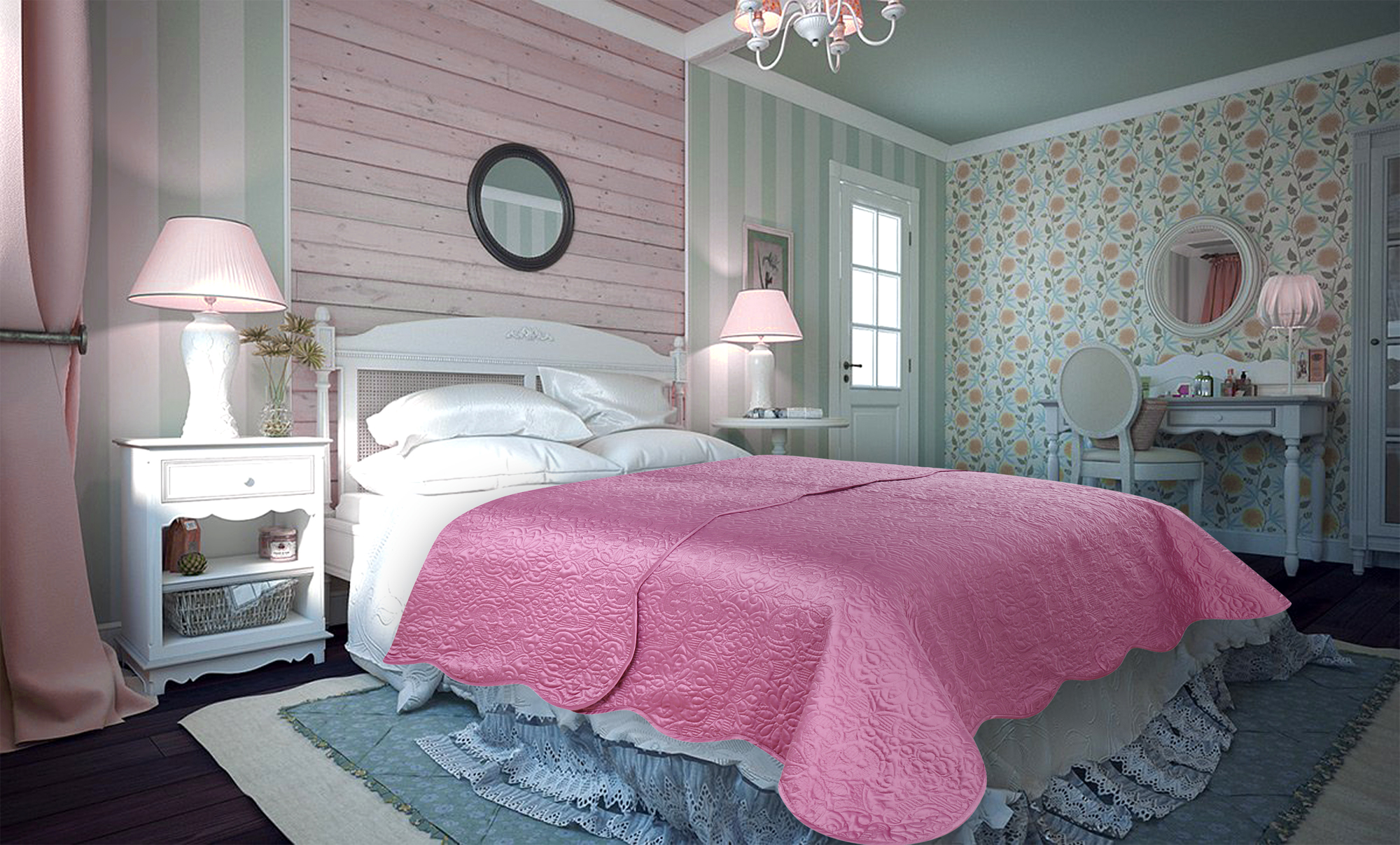 Купить Пледы и покрывала Amore Mio, Покрывало Trire (220х240 см), Китай, Синтетический сатин, Атлас