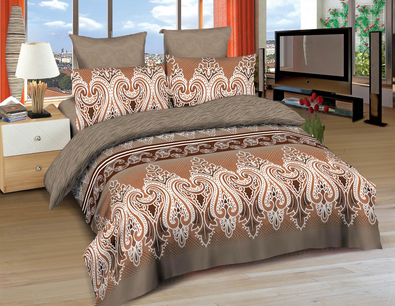 Купить Комплекты постельного белья Amore Mio, Постельное белье Tabriz (1, 5 спал.), Китай, Коричневый, Хлопковый сатин
