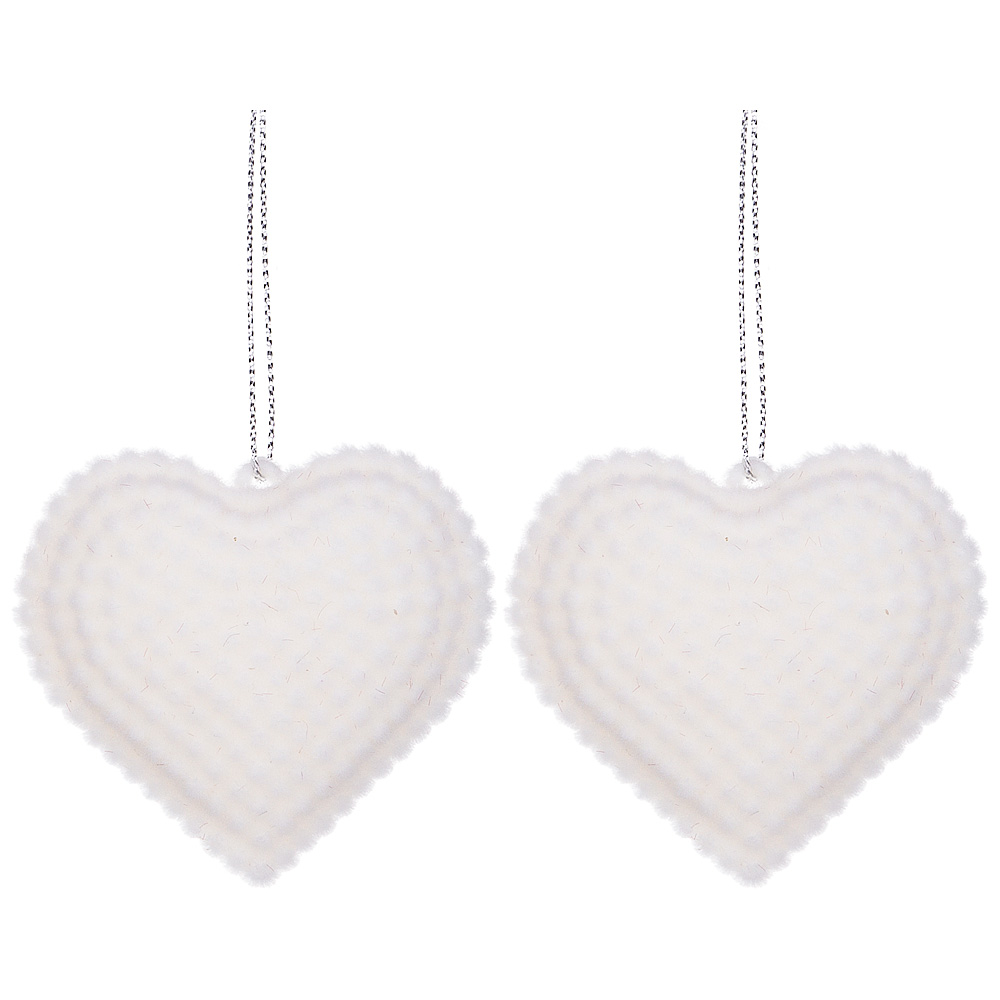 Купить Статуэтки и фигурки Lefard, Изделие декоративное Сердечки (7х6 см - 2 шт), Китай, Пластик