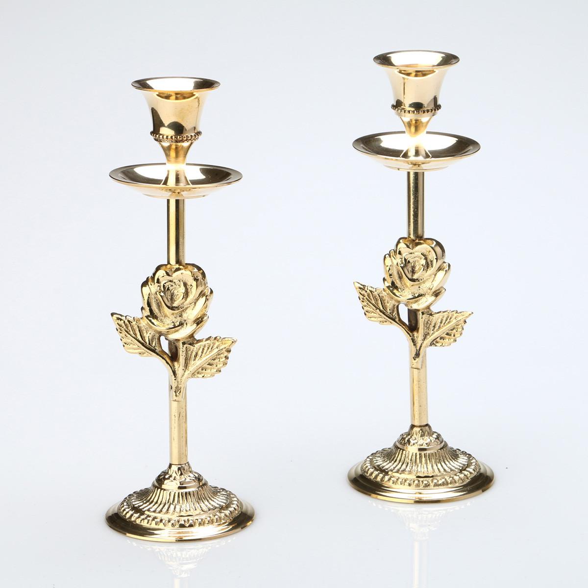 Купить Декоративные свечи Arti-M, Подсвечник Loyared (19 см - 2 шт), Индия, Латунь