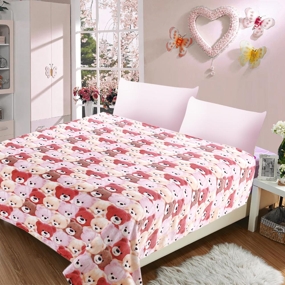 Купить Покрывала, подушки, одеяла для малышей Absolute, Детский плед Мишки (110х140 см), Россия, Коралловый флис