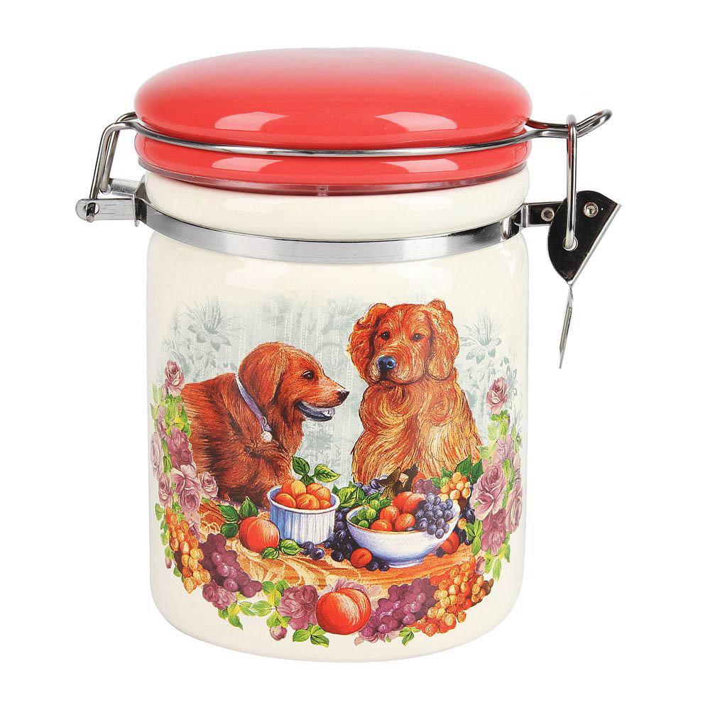 Купить Хранение продуктов Polystar, Банка для сыпучих продуктов Встреча (10х14 см), Китай, Белый, Красный, Оранжевый, Керамика