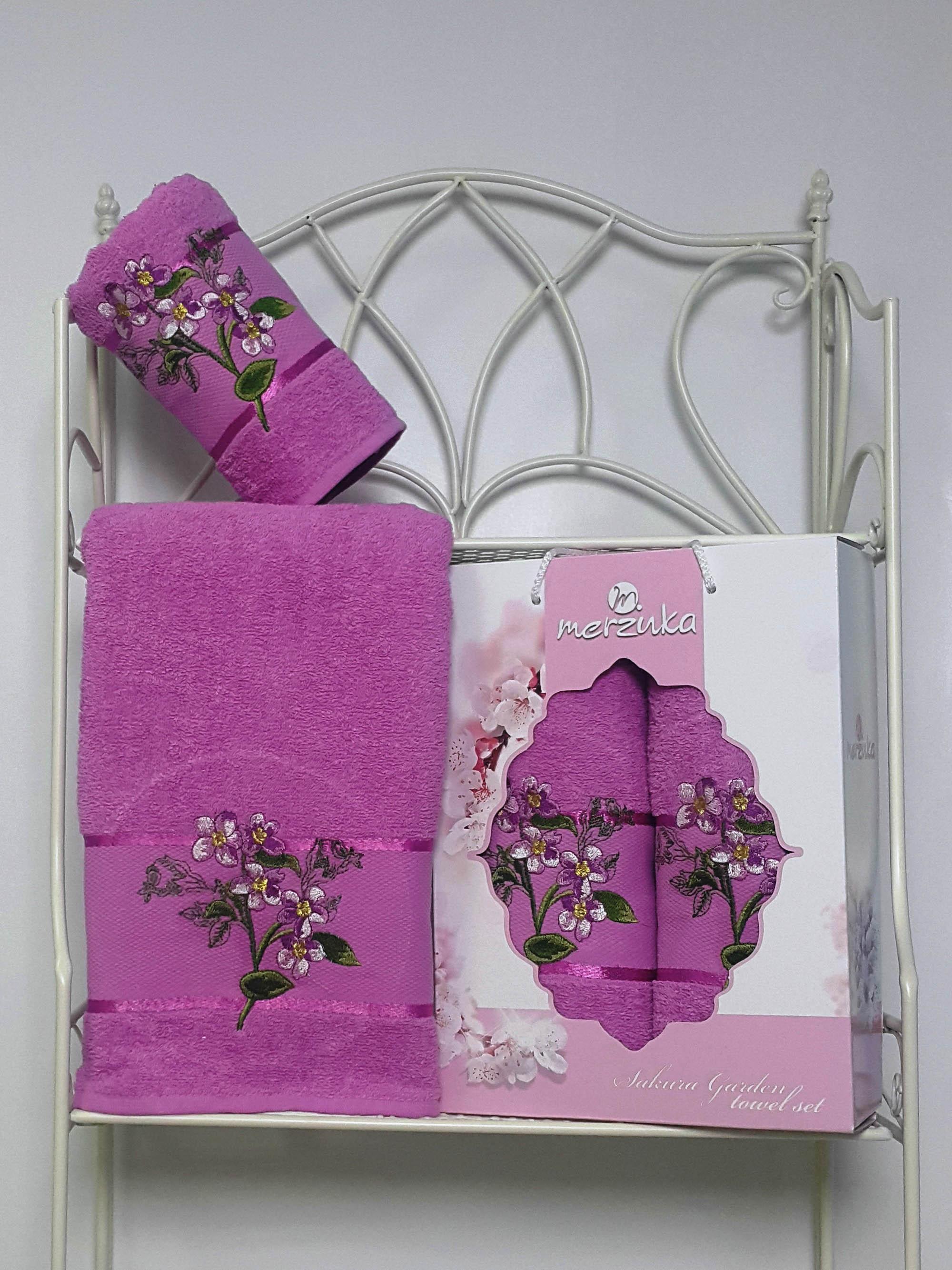 Полотенца Oran Merzuka Набор из 2 полотенец Sakura Garden Цвет: Светло-Лиловый полотенца oran merzuka полотенце sakura цвет светло лиловый набор