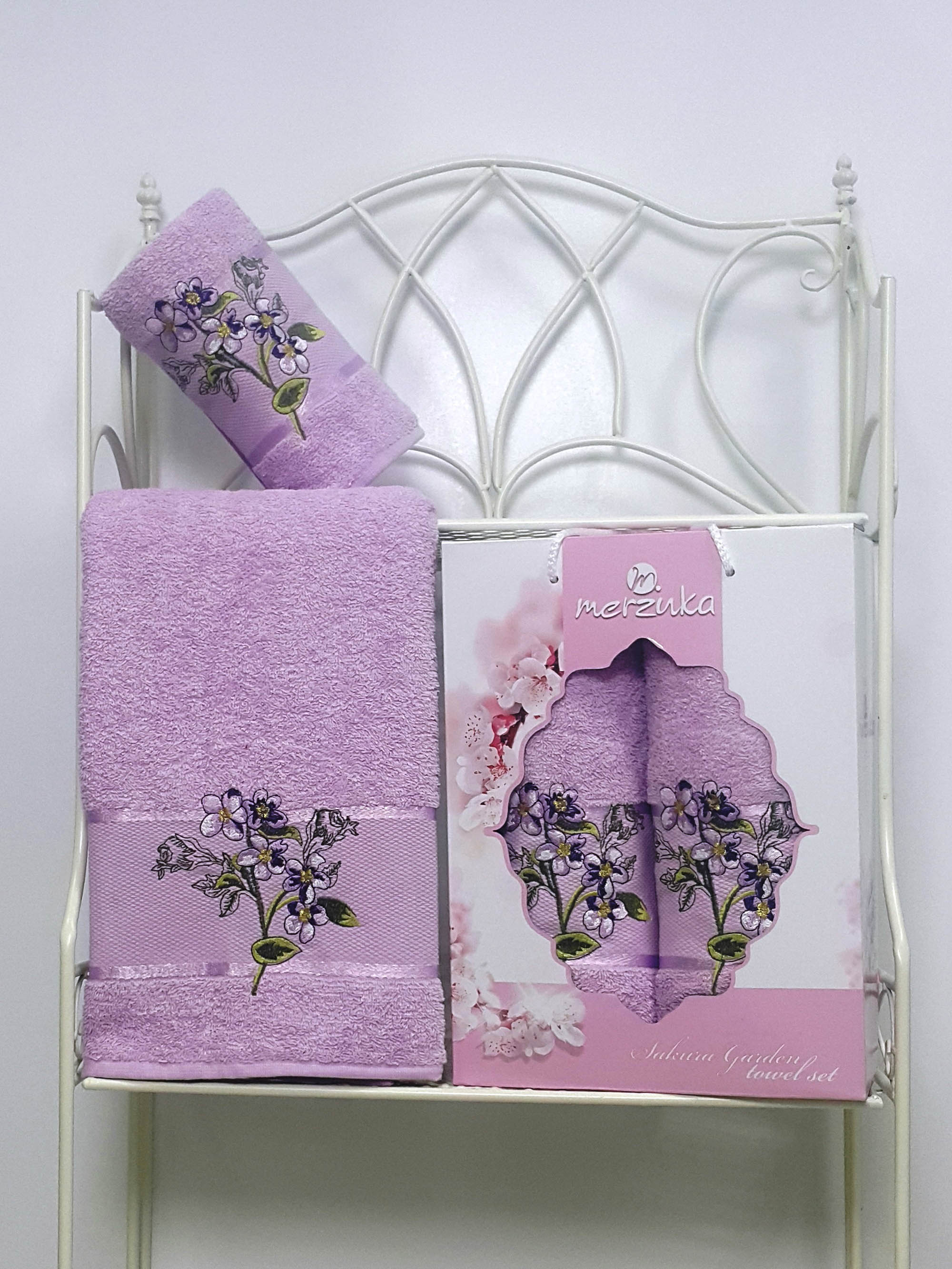 Полотенца Oran Merzuka Набор из 2 полотенец Sakura Garden Цвет: Сиреневый