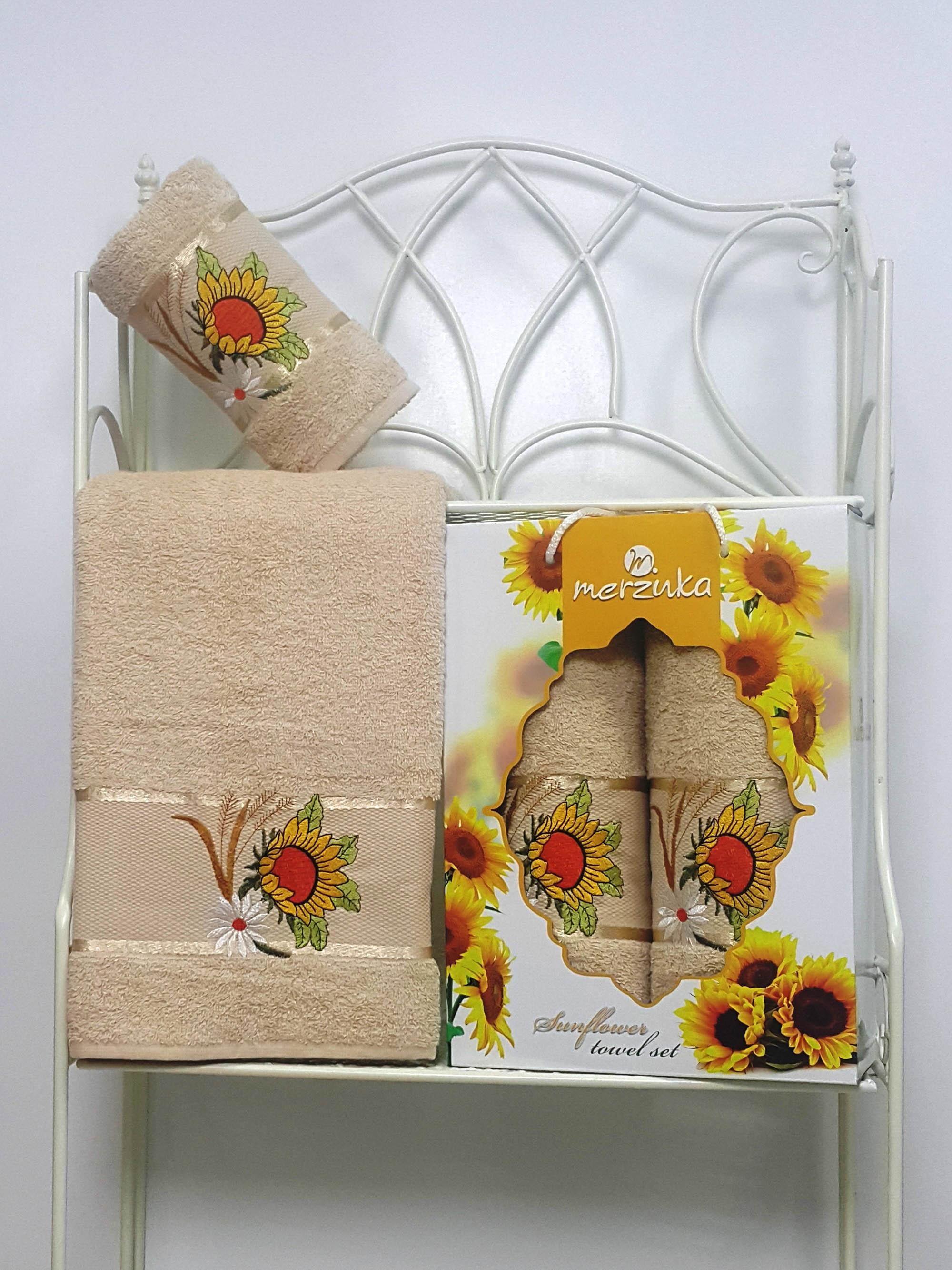 Полотенца Oran Merzuka Набор из 2 полотенец Sunflower Цвет: Бежевый