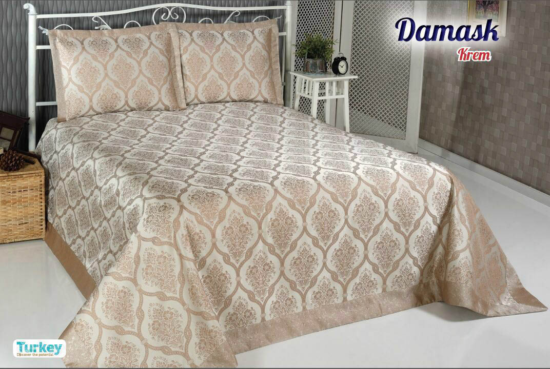 Пледы и покрывала DO'n'CO Покрывало Damask Цвет: Бежевый (240х260 см)