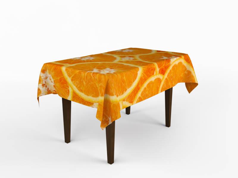 Скатерти и салфетки StickButik Скатерть Апельсиновый Изыск (120х120 см) скатерти и салфетки stickbutik скатерть ромео 120х120 см