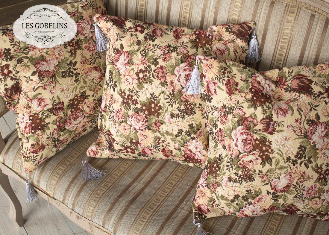 Декоративные подушки Les Gobelins Декоративная наволочка Bouquet Francais (45х45) покрывало les gobelins накидка на кресло bouquet francais 80х160 см