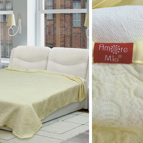 Купить Пледы и покрывала Amore Mio, Покрывало Decor Цвет: Молочный (160х220 см), Россия, Синтетический трикотаж