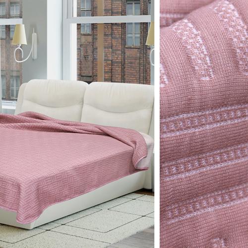 Купить Пледы и покрывала Amore Mio, Покрывало Biscuit Цвет: Розовый (200х220 см), Россия, Синтетический трикотаж