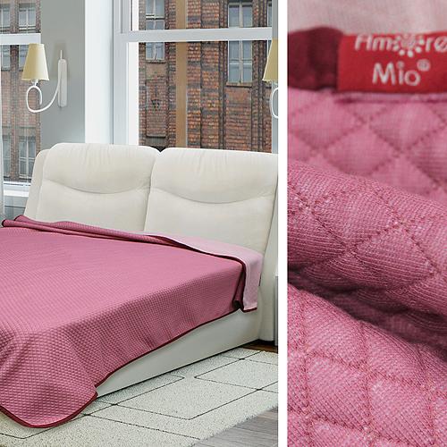 Купить Пледы и покрывала Amore Mio, Покрывало Cubes Цвет: Розовый (200х220 см), Россия, Синтетический трикотаж
