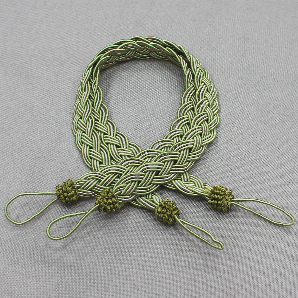 Карнизы и аксессуары для штор Ajur Подхваты Aislinn Цвет: Зеленый кисти подхваты крючки держатели