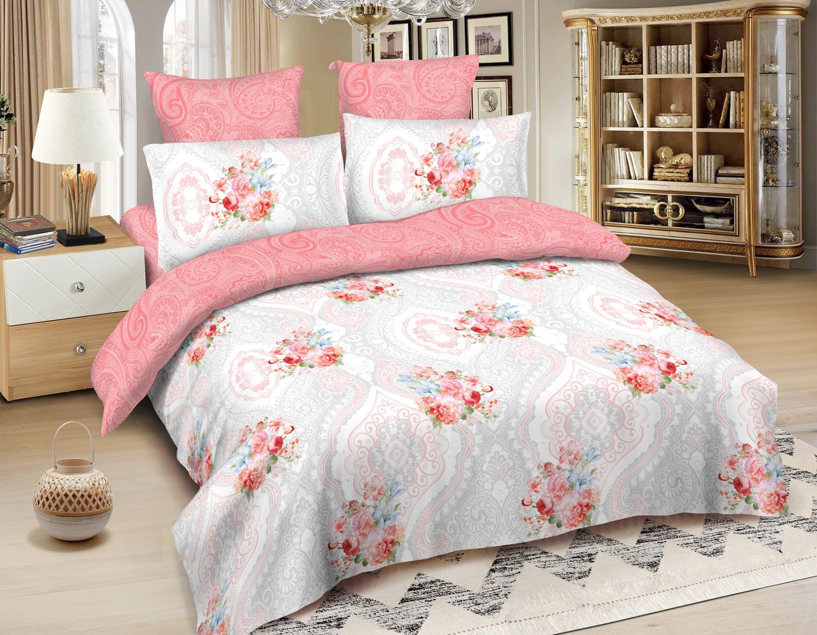 Комплекты постельного белья Amore Mio, Постельное белье Quito (2 сп. евро), Китай, Розовый, Хлопковый сатин  - Купить