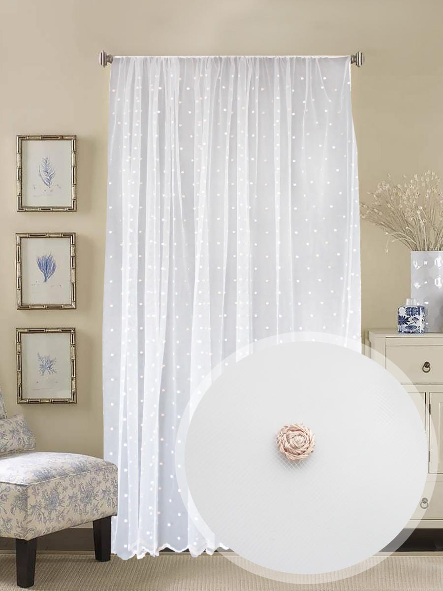 Классические шторы Baz Цвет: Белый, Бежевый
