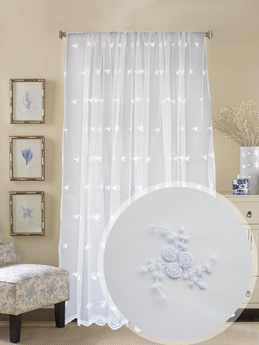 Классические шторы Baptist Цвет: Белый