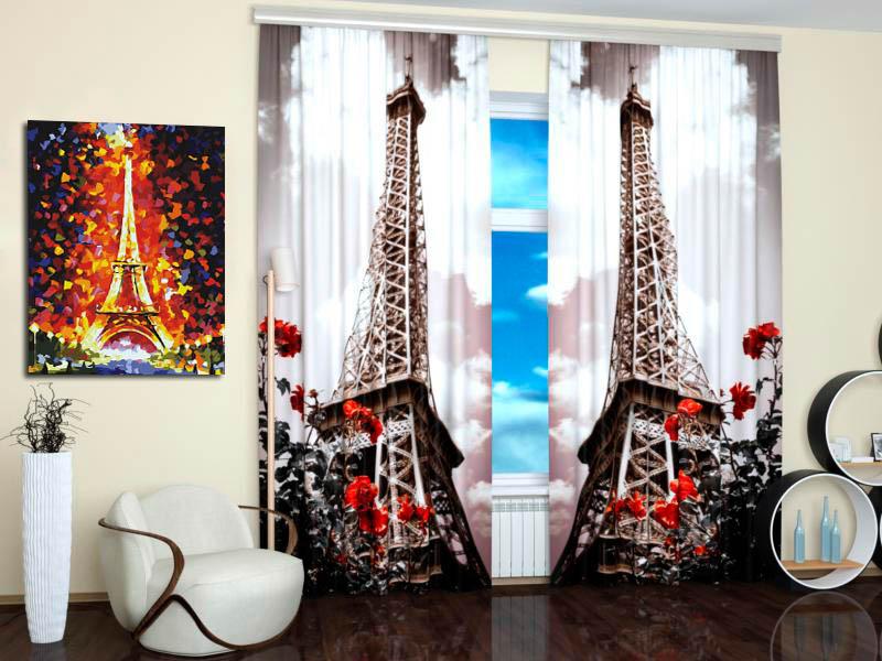 Шторы StickButik Фотошторы Парижская Роскошь