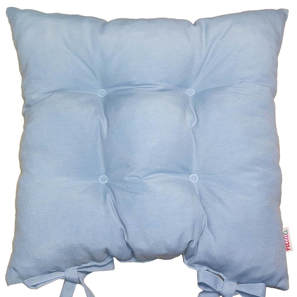 Купить Декоративные подушки Apolena, Подушка на стул Blue Ceilo (40х40), Россия-Турция, Голубой, Поликоттон