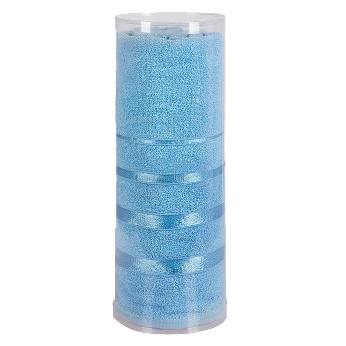 Купить Полотенца Soavita, Полотенце Шантони Цвет: Светло-Синий (65х138 см), Китай, Голубой, Махра