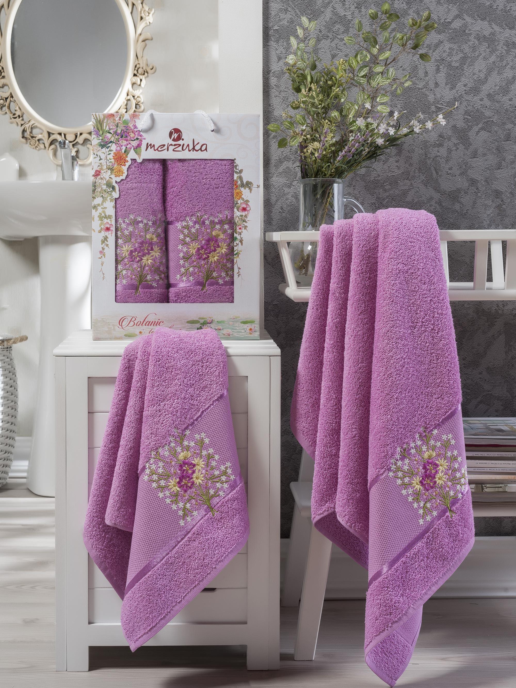 Полотенца Oran Merzuka Полотенце Botanik Цвет: Светло-Лиловый (Набор) полотенца oran merzuka полотенце sakura цвет светло лиловый набор
