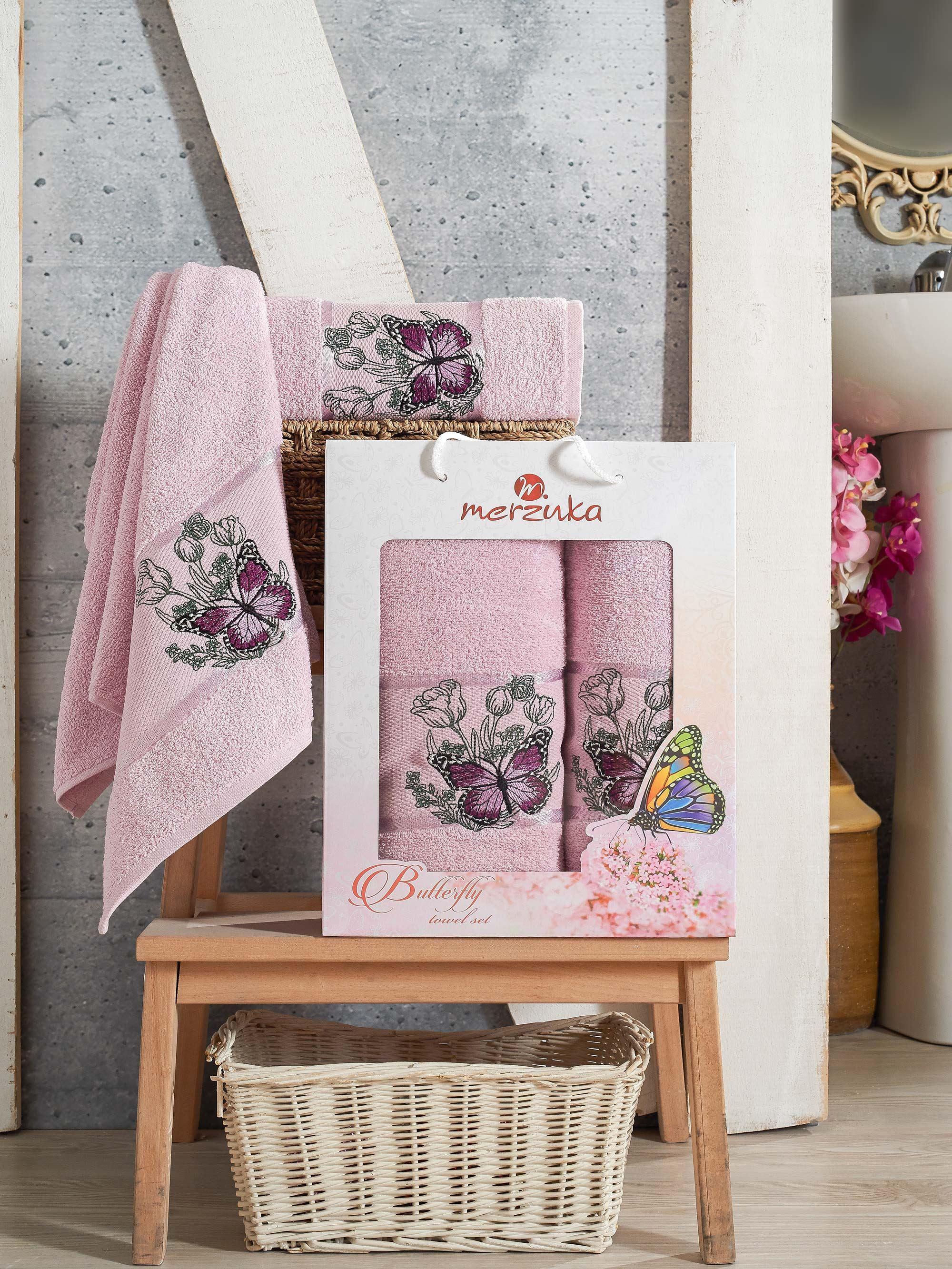 Полотенца Oran Merzuka Полотенце Butterfly Цвет: Светло-Лиловый (50х80 см,70х130 см) полотенца oran merzuka полотенце sakura цвет светло лиловый набор