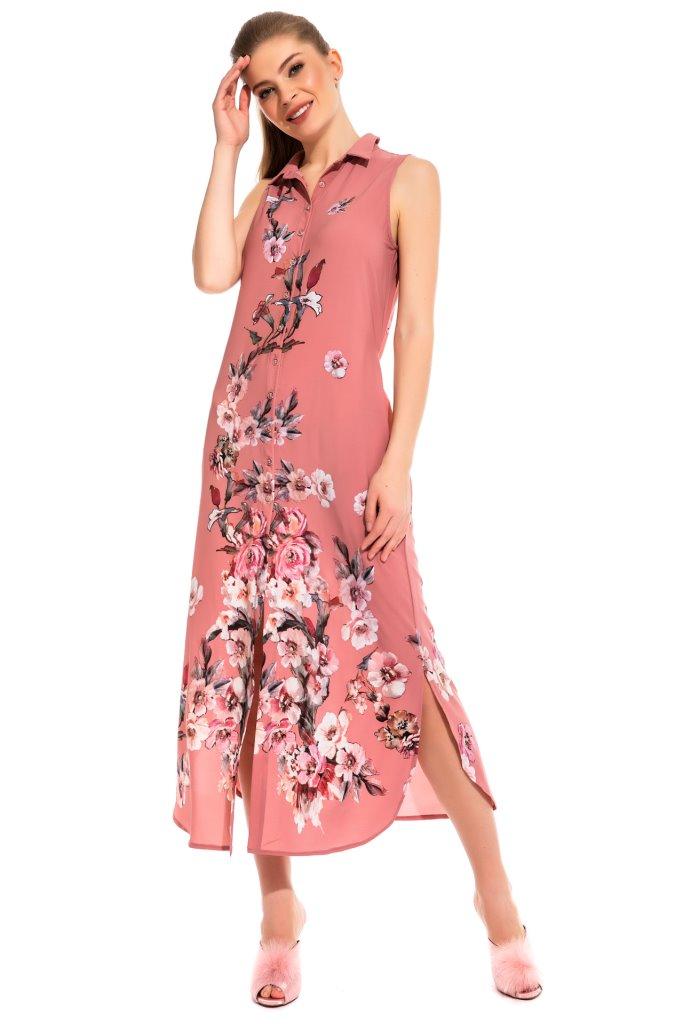 Платье-туника Calanthia Цвет: Пудровый (44) Peche Monnaie pmn498737