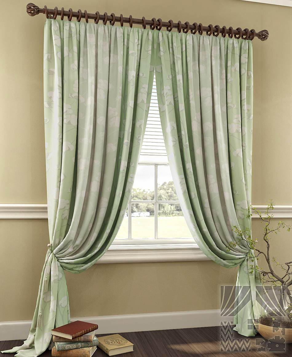 Классические шторы Berenice Цвет: Мятный фото
