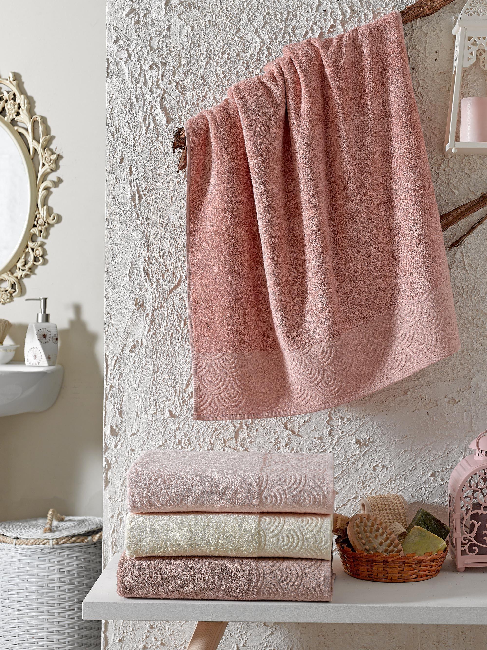 Купить Полотенца DO'n'CO, Полотенце Rainbow (50х90 см - 4 шт), Турция, Розовый, Бамбук